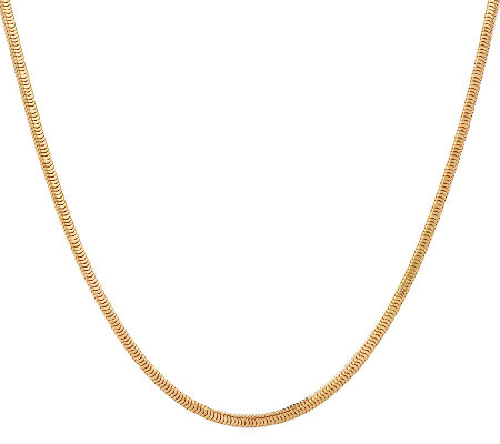 "Bronze 24"" Solid Square Snake Chain Necklace by Bronzo Italia"