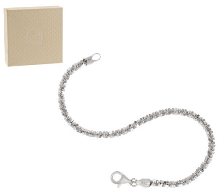 Vicenza Silver Sterling Solid Margherita Chain Bracelet, 5.0g