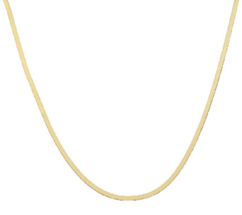 "Vicenza Gold 16"" Solid Herringbone Necklace 14K Gold, 2.8g - J319351"