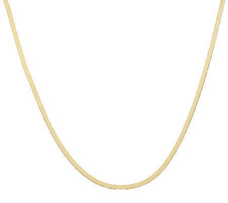 "Vicenza Gold 16"" Solid Herringbone Necklace 14K Gold, 2.8g"