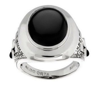 """As Is"" Aldo Orta Sterling Gemstone Icon Ring - J327151"