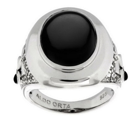 """As Is"" Aldo Orta Sterling Gemstone Icon Ring"