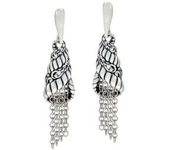 Carolyn Pollack Sterling Silver Tassel Earrings - J330051