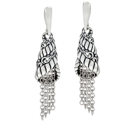 Carolyn Pollack Sterling Silver Tassel Earrings