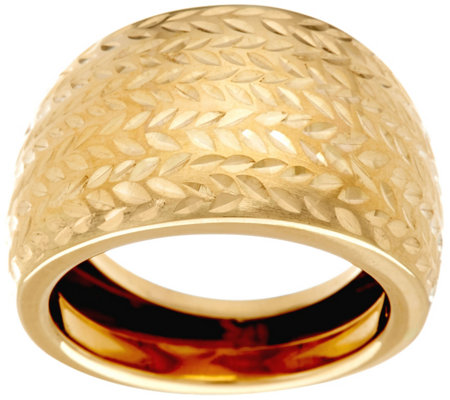 EternaGold Bold Diamond Cut Ring 14K Gold