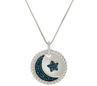 """As Is"" Love You to the Moon Diamond Pendant w/Chain, 1/5ct by Affinity - J330751"