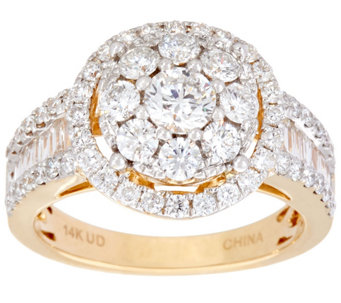 Bold Cluster White Diamond Cocktail Ring, 14K, 2.00 cttw, by Affinity - J333651