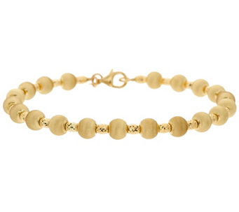Arte d'Oro Small Satin Finish Bead Bracelet, 18K 6.1g - J334951