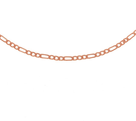 "30"" Polished Figaro Necklace, 14K Gold 3.4g"
