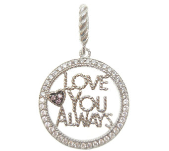 Judith Ripka Sterling Diamonique Love You Always Charm - J338551