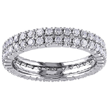 Diamond Eternity Ring, 1.00cttw, 14K White Gold, by Affinity