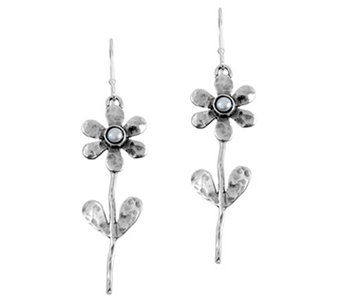 Sterling Cultured Pearl Flower Earrings by Or Paz - J340051