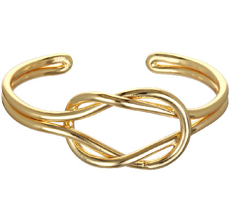 Capwell Goldtone Why Knot Cuff