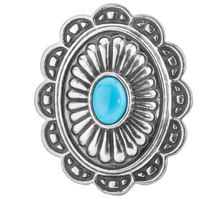 American West Treasures Turquoise MagneticConcha Insert