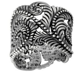 Sterling Silver Beaded Scroll Design Ring by OrPaz - J342751