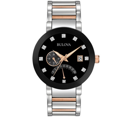 Bulova Men's Diamond Accent Bracelet Watch