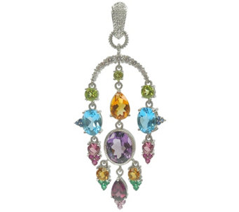 Judith Ripka Sterling Multi-Gemstone & Diamonique Enhancer - J345151