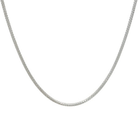 "Italian Silver 16"" Diamond Cut Snake Chain Necklace Sterling, 8.6g"