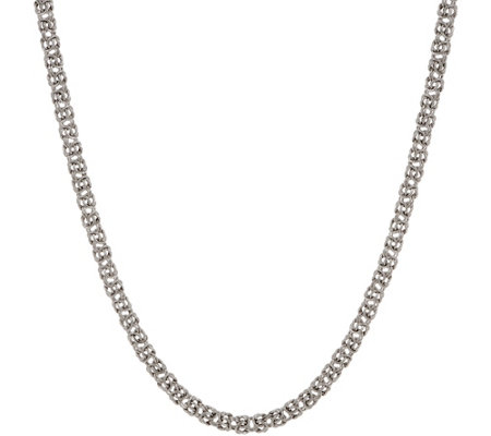 Italian Silver Adjustable Byzantine Necklace, 15.0g