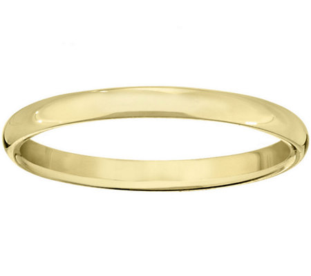 Men's 18K Yellow Gold 2.5mm Half Round WeddingBand