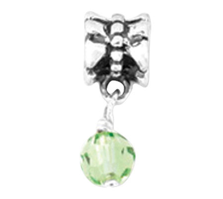 Prerogatives Sterling Green Dangle Bead