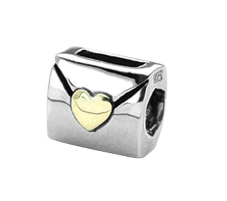 Prerogatives Sterling and 14K Love Note Bead