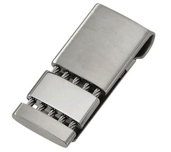 Forza Stainless Steel with Twisted Rope AccentMoney Clip - J109452