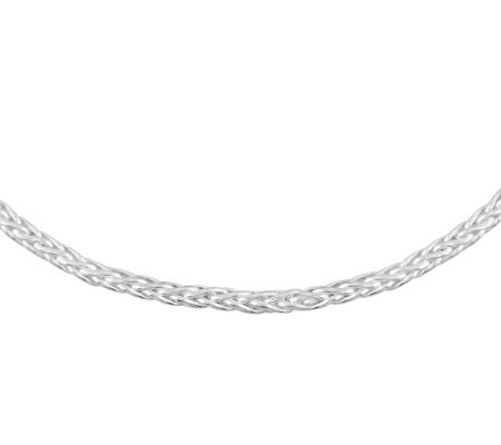 "UltraFine Silver 18"" Bold Wheat Chain Necklace,11.5g"