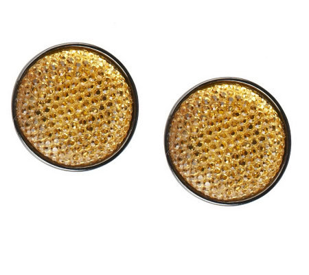 Joan Rivers Sequin Shimmer Button Earrings