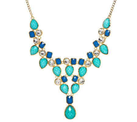 Amrita Singh Simulated Turquoise & Lapis Necklace