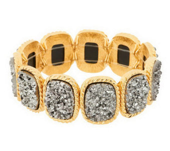 Joan Rivers Look of Drusy Stretch Bracelet - J268152