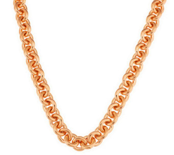 "Oro Nuovo 18"" Rolo Link Necklace with Magnet 14K - J285552"