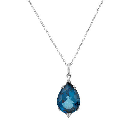 1450 ct tw ostro london blue topaz pear shaped pendant page 1 1450 ct tw ostro london blue topaz pear shaped pendant aloadofball Image collections