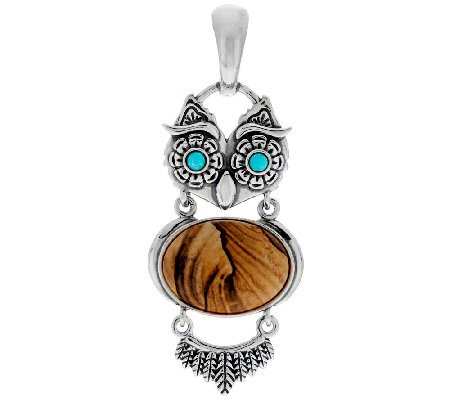 American West Sterling Owl Gemstone Enhancer