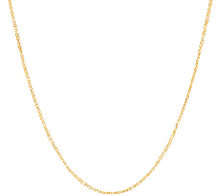 "14K Gold 16"" Polished Spiga Necklace 2.0g"