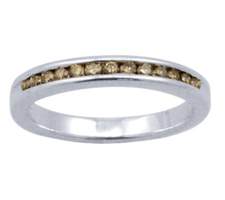 Champagne Diamond Ring, Sterling, 1/4 cttw, by Affinity