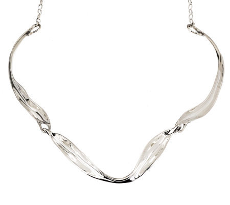 Hagit Gorali Sterling Polished Sculpted Necklace, 23.2g