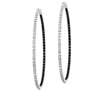 "Diamond Fascination Sterling 2"" Hoop Earrings - J309952"