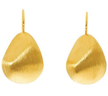 Arte d'Oro Bold Pear Shaped Earrings, 18K Gold