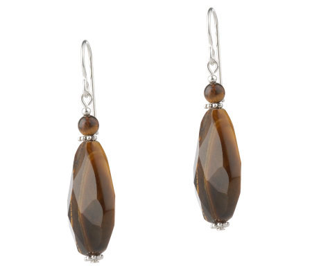 Lee Sands Faceted Tiger's-Eye Earrings
