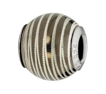 Prerogatives Sterling Laser-Cut Striped Bead
