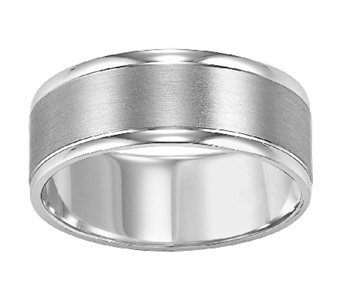 8.0mm Men's Comfort Fit Wedding Band, 14K WhiteGold - J315752