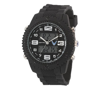 Wrist Armor Men's U.S. Air Force C27 Black & White Watch - J316352