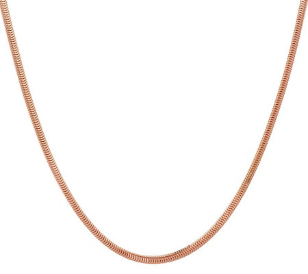 "Bronze 36"" Solid Square Snake Chain Necklace by Bronzo Italia"