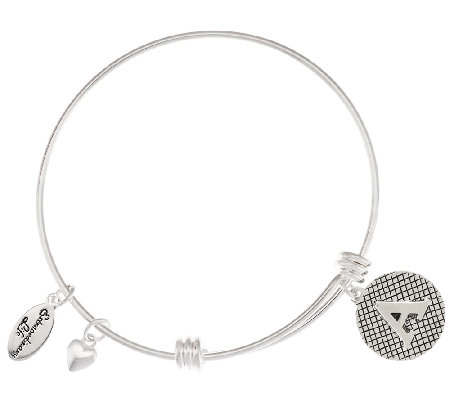 Extraordinary Life Sterling Expandable Initial Charm Bangle