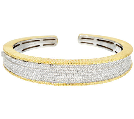 Judith Ripka Sterling & 14K Clad Two-tone Cuff