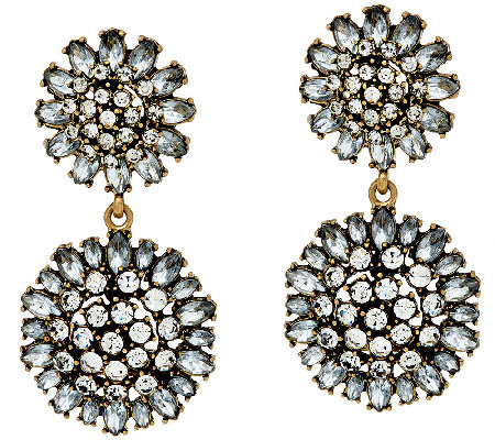 BaubleBar Crystal Dandelion Drop Earrings
