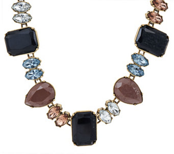 "LOGO Links by Lori Goldstein 21"" Teardrop and Rectangle Collar Necklace - J324152"