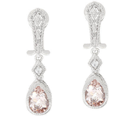 Judith Ripka Morganite Estate Earrings