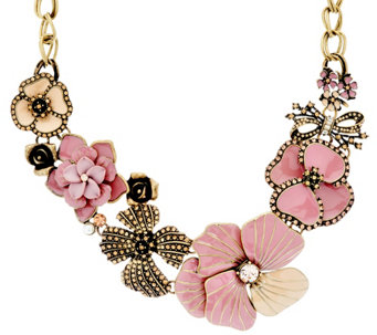 Joan Rivers Charming Blooms Enamel & Pave' Bib Necklace - J327552